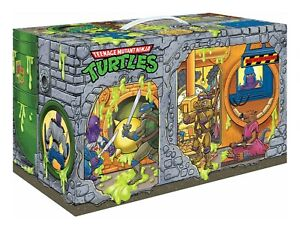 PREVIEWS EXCLUSIVE TMNT Retro Rotocast Sewer Lair 6 Figure Set! SEALED!