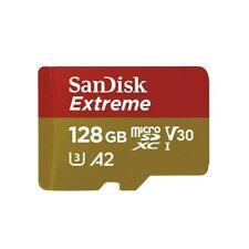 Scheda di memoria SanDisk microSDXC Extreme 128GB 160/90 MB/s V30 A2 U3 4K (SDSQ