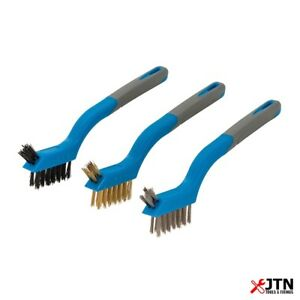 Silverline 617623 Mini Wire Brush Set 3 Piece