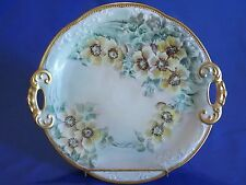 TIRSCHENREUTH Bavaria Germany Double Handled Plate Hand Painted & Signed