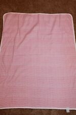 Vintage Carter's Red White Striped Baby Blanket