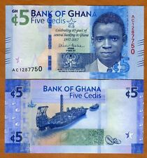 Ghana, 5 Cedis, 2017, P-New, Unc > Commemorative