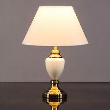 malham cream ceramic and antique brass traditional classic table lamp u0026 shade