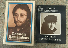 JOHN LENNON / 2 Hardbacks / IN HIS OWN WRITE (10TH) / LENNON REMEMBERS (4TH) +*+