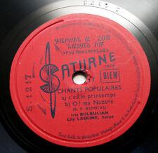 IRIS BULBULIAN LASKINE PAINCHAUD Komitas armenian french saturne S.1217 78 rpm