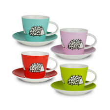 SCION - Spike The Hedgehog Set of 4 Espresso Cups And Saucers - Great Gift