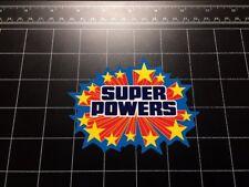 Super Powers toy logo vinyl decal sticker super hero action figure kenner 80s