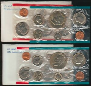 1975 and 1976 Mint Sets, OGP