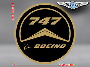 OLD VINTAGE STYLE ROUND BOEING B 747 B747 LOGO DECAL / STICKER
