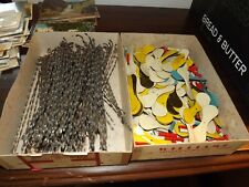 1 Box Lot of 100-150 Antique HiFlyer Toys -  Metal Toy Spinners
