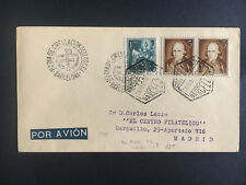 1952 Barcelona Spain First Day Cover to Madrid Fdc