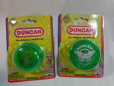 DUNCAN YO YOs Lot of 2 GREEN One Butterfly One Imperial 2015 Ages 6 Up NEW