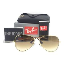 New Ray-Ban RB3025 001/51 Gold Aviator Sunglasses w/ Gradient Brown Lenses 58mm