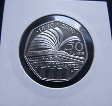 2000 ROYAL MINT PROOF Coin Libraries Royal Mint Fifty Pence.     P227/-