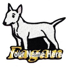 Bull Terrier Dog Custom Iron-on Patch With Name Personalized Free