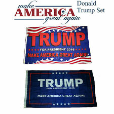 3x5 Donald Trump For President Make America Great Again Wholesale Set Flag 3'x5'