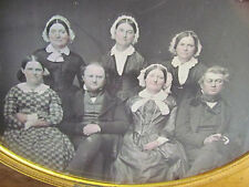 Daguerreotype Group of Seven  Full Mother of Pearl Case - RARE 1/2 PLATE!!