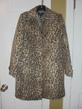 J.CREW TOPCOAT  DOUBLE LEOPARD SIZE -2 SNOW LEOPARD H2734 2017 COAT JACKET