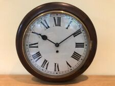 More details for mahogany cased school / station / wall clock - spares or repairs