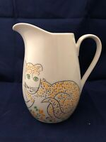 "1980s Gloria Vanderbilt Ginger Cats Meow Taste Setter Sigma Ceramic Pitcher 7"""
