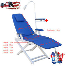 Portable Dental Folding Chair Luxury Type Rechargeable Led Light Equipment Usa