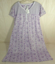 LATI FASHION XL Purple Womens Short Sleeve Nightgown 55% Cotton 45% Polyester
