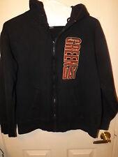 Green Day Punk Rock Band Black Large Hooded Zip Up I Walk Alone Sweatshirt