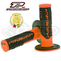 Pro Grip Progrip 801 Poignées Orange Fluo Motocross Noir Demi Gauffré Doux