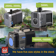Submersible Water Pump Aquarium Fish Tank Fountain Pond Marine 2500L to 16000L