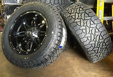 """20"""" 20x10 D531 Hostage Black Wheels 33"""" Fuel AT Tires Package 8x6.5 Chevy GMC"""
