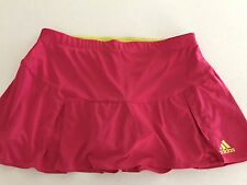 ADIDAS WOMENS SKORT TENNIS SPORT GYM BUILD IN PINK YELLOW SZ L