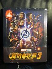 Avengers Infinity War 3D Blu-Ray Steelbook [Blufans] 1/4 Quarter Slip Marvel MCU