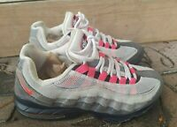 Nike Air Max 307565 160 Athletic Shoes Sneakers Red / White / Gray Girls 5.5Y