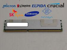 Lot of 5 Major Brand 4 GB DDR3-1066 PC3-8500R 2Rx4 1.5V Shielded Server RAM