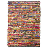 2x3' Cotton Rag Rug Multi Chindi Distressed Woven Small Area Rug Living Room
