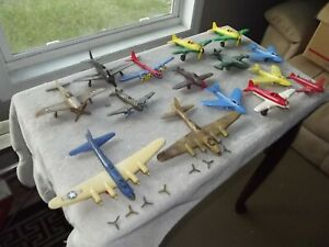 Vintage RENWAL HUBLEY OTHERS  AIRPLANE LOT of (15) MILITARY PLANE Plastic