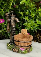 Miniature Dollhouse FAIRY GARDEN Figurine ~ Water Well with Puppy Dog ~ NEW
