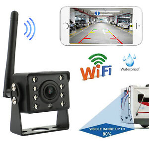 WiFi Wireless Car Truck RV Trailer Rear View Backup Camera CCTV For iOS Android