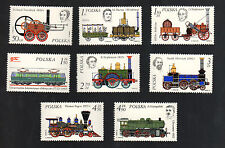 POLAND 1976 - Set of 8 Stamps - History of the locomotive
