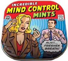 Incredible Mind Control Mints in Illustrated Tin Box .4 ounces NEW SEALED
