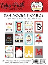 "ECHO PARK ""MAGIC AND WONDER  3X4 ACCENT CARDS DISNEY MICKEY MOUSE SCRAJACK'S PL"