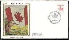"""Canada Scott # 907 Maple Leaf / Non Denominated """"A"""" FDC. Colorano SilkCachet"""