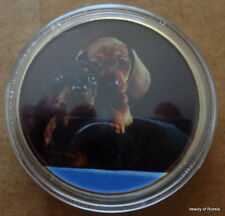 Dogs 24K Gold Plated 40 mm Coin #4
