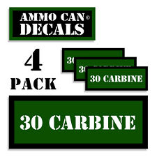 """30 CARBINE Ammo Can 4x Labels Ammunition 3""""x1.15"""" stickers decals 4 pack GR"""