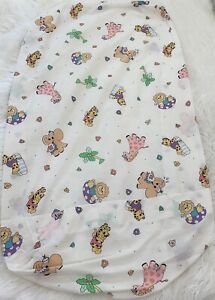 1993 Little Bedding Red Calliope Vintage Animal Lion  Fitted Crib Sheet Baby