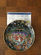 """Bradford Exchange """"Holiday Cats"""" Plate Collection, New w/ Original Boxes"""
