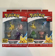 2 Pokemon Battle Figure Multi-Pack Factory Sealed Pikachu Jigglypuff  RARE