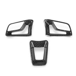Carbon Fiber Interior Steering Wheel Trim Cover Fit for Porsche 718 Boxster 911