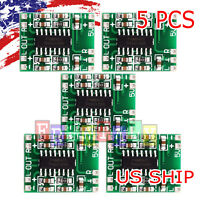 5X PAM8403 Mini 2 Channel Stereo 3W Class D Audio Power Amplifier Module Board