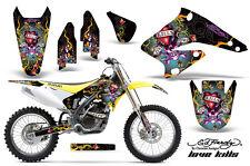 Dirt Bike Graphics Kit Decal Sticker Wrap For Suzuki RMZ250 2004-2006 EDHLK BLK